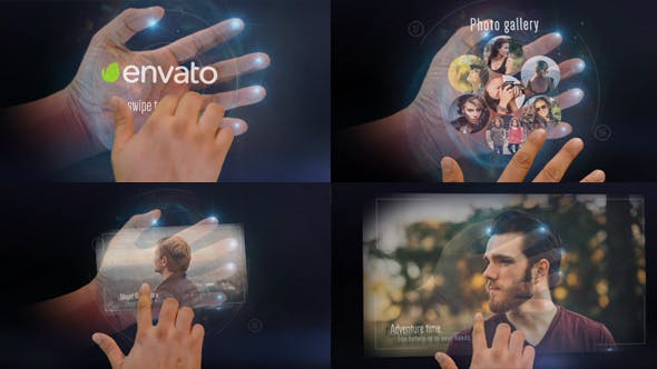 Interactive Hand Hologram Opener by goldenaspiration   VideoHive