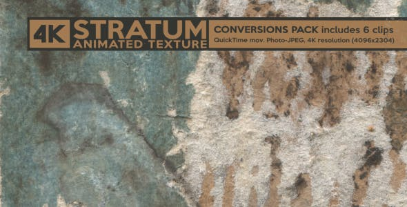 Stratum Grunge 4K Animated Texture (6-Pack) by PULPTRONIK | VideoHive