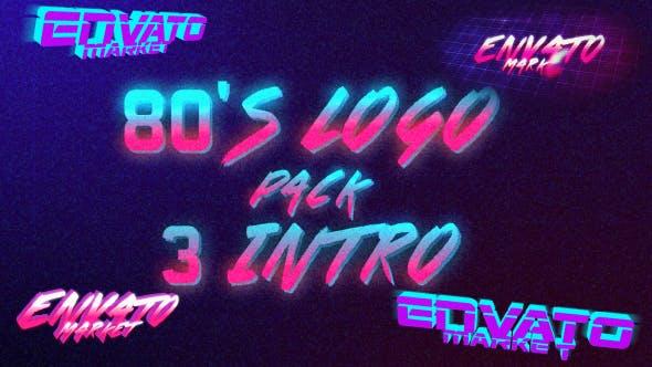 80's Logo Intro Pack 3 in 1 by Kira_Mishura | VideoHive