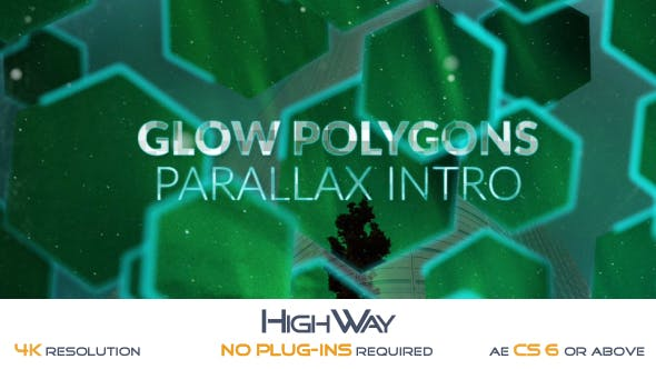 Videohive Glow Polygons Parallax Intro 19582790 Free
