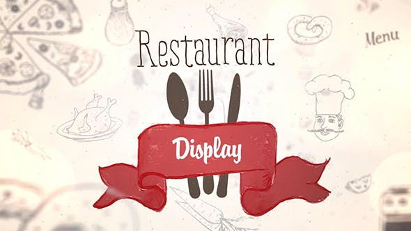 Videohive Restaurant Display 19609402 Free Download