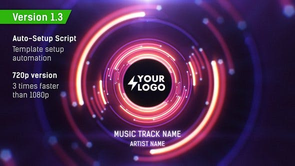 Audio React Tunnel Music Visualizer by Kosmos | VideoHive