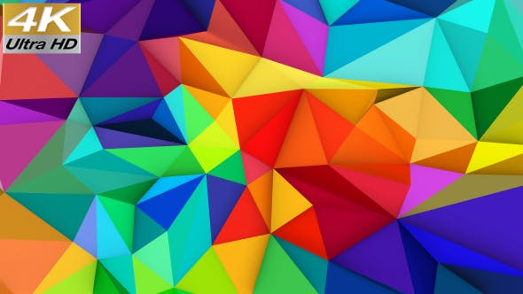 Polygonal Colorful Background by HK_graphic | VideoHive