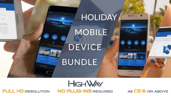 Videohive Holiday Mobile Device Bundle Match Moving 19676952 Free