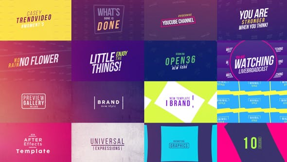 50 Creative Titles by BoxMotion | VideoHive