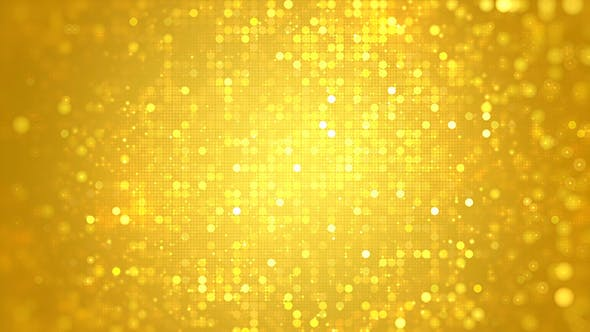 Glittering Golden Bokeh Dots Circle Background by VF | VideoHive