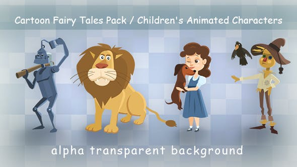 Cartoon Fairy Tales Pack / Childrens Animated Characters by