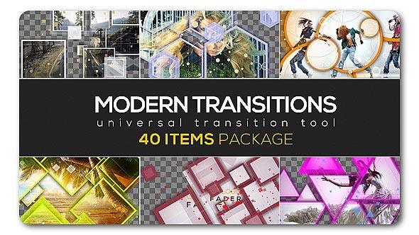 Modern Transition Pack | 40 items by TranSMaxX | VideoHive