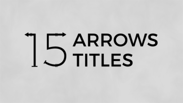 Videohive Arrows Titles Free Download