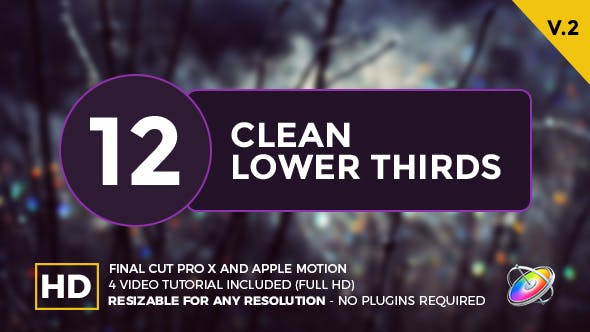 Clean Lower Thirds For Final Cut Pro X by MotionLemon | VideoHive