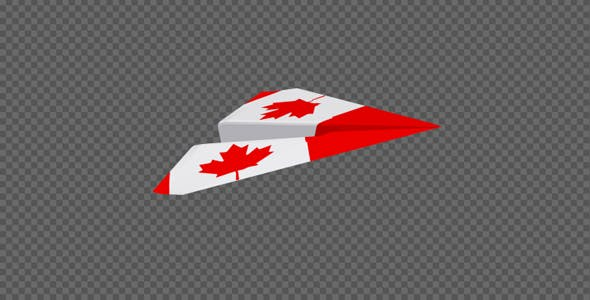 Paper Airplane - Canada Flag - Pack of 2 by VideoMagus | VideoHive