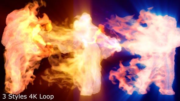 Fire Girl Dance Music DJ VJ Event Visuals by 3d_videos