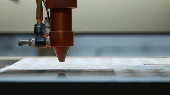 Cnc Laser Cutting Machine at Work  Acrylic Plastic Cutting  by RAWDOGstd
