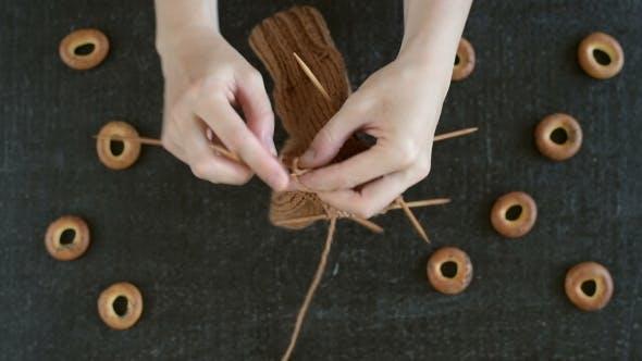 Knitting Socks And Eating Cracknels By Antonuk Videohive