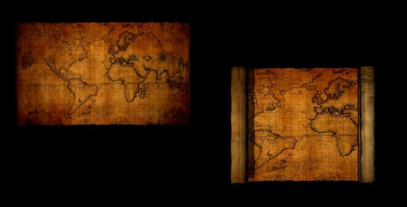 newest 798bc aa39e World Map Vintage (Stock Footage)