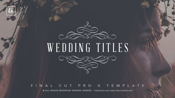 Wedding Titles - FCPX by GerardGerard | VideoHive