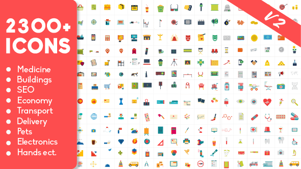 2300 Animated Icons Pack by Weeny_Kiwi | VideoHive