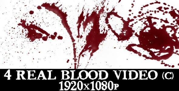 4 Blood Splatter Video Full HD by mizukovideo | VideoHive