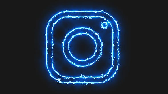Blue Electric Instagram Icon by Pixinnova | VideoHive