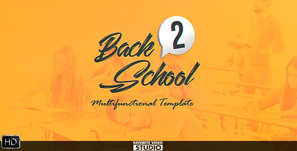 Back 2 School Broadcast Pack 20496690 Videohive – Free Download After Effects Templates