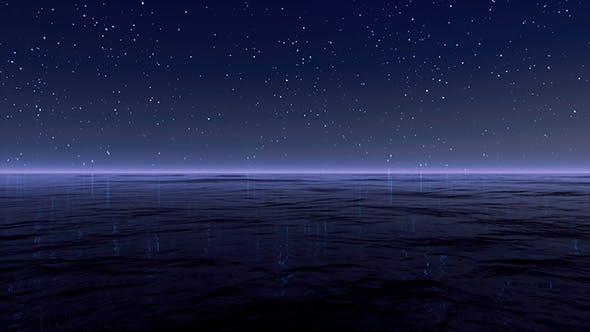 Starry Sky At Sea Background by AlienPlanet | VideoHive