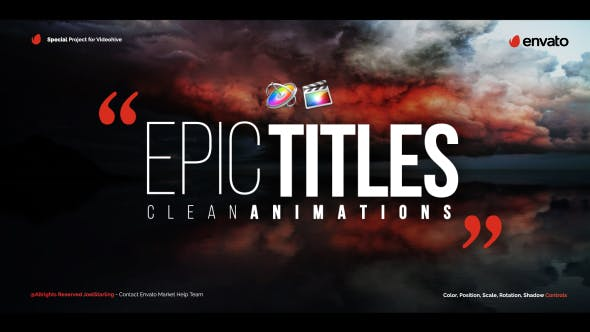 Epic Titles For Final Cut Pro X by JoelStarling | VideoHive