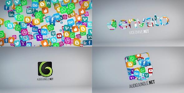 Videohive Social Media Logo Reveal 20653673 Free Download
