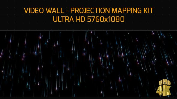 Star Rain Video Wall Mapping 4K by eyecyber | VideoHive
