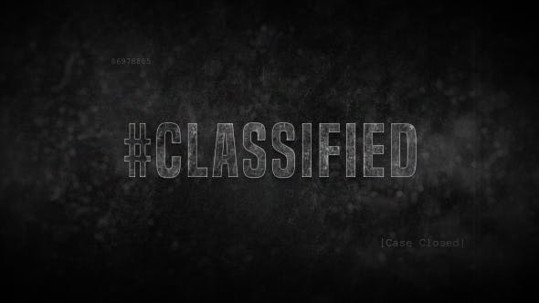 Videohive Crime Title Sequence / Credits – Classified Detective Free Download