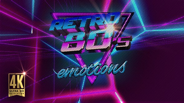 VJ 80's Synthwave Space by emotionica | VideoHive