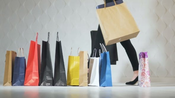 e50ed785 Girls Take Shopping Bags by ProImageContent | VideoHive
