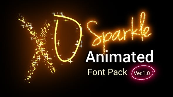 Download Sparkle Animated Font Pack - Version 2.00 by guna2d ...