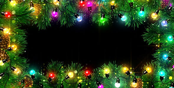 christmas lights frame by as 100 videohive usd