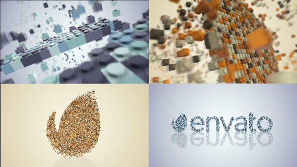 Building Blocks Logo Build by iconoclast | VideoHive