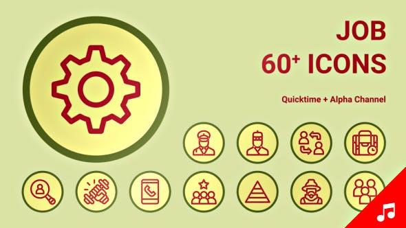 Resume Job Cv Icons Motion Graphics By Likeman Videohive