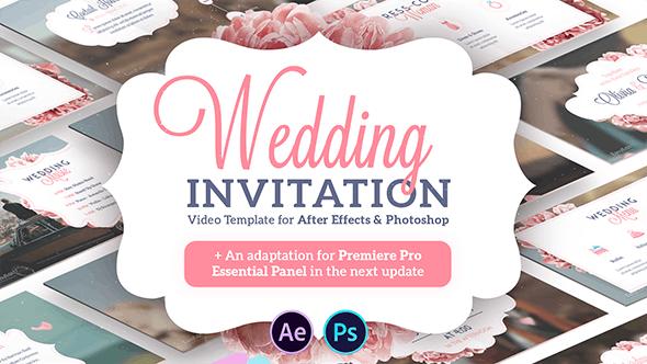 Wedding Invitation Template Video Effects Stock Videos