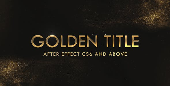 Videohive Golden & Silver Titles Free Download