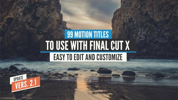 99 Final Cut X Titles Pack by LaurentiuDorin | VideoHive