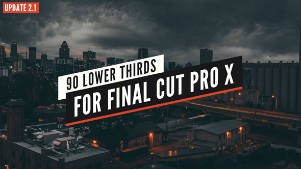 90 Final Cut X Lower Thirds Pack by LaurentiuDorin | VideoHive