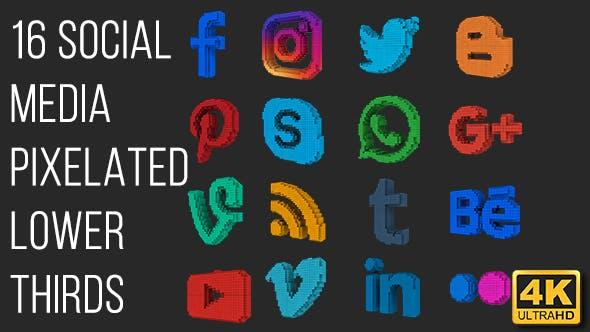 Social Media Pixels Lower Thirds (4K)