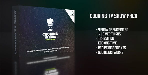 Videohive Cooking Tv Show Pack 21359758 Free Download