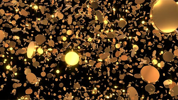 Gold Coins Loop Background By Idimair