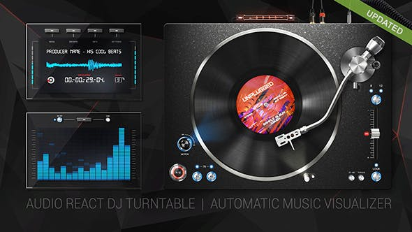 audio react dj turntable music visualizer by dem g videohive. Black Bedroom Furniture Sets. Home Design Ideas