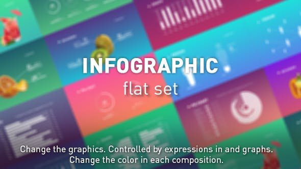 Videohive Infographic flat set Free Download