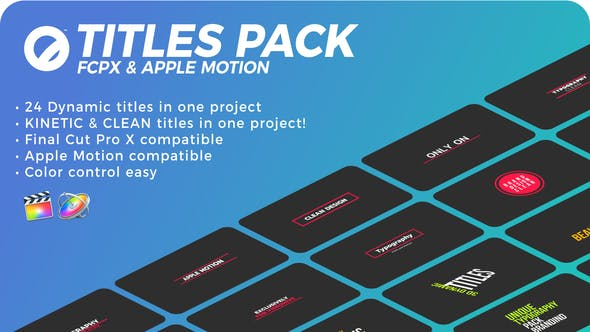 Titles Pack   FCPX or Apple Motion by Space-Dog   VideoHive