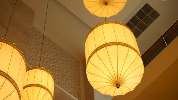 Paper Lanterns Hanging From The Ceiling