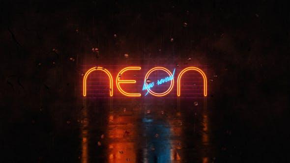 Neon Logo Reveal by VladimirPerumov | VideoHive