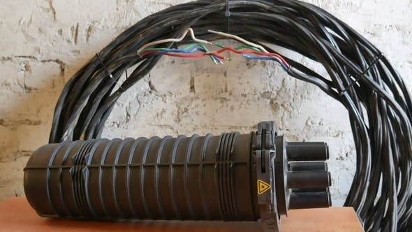 Coupling Fiber Optic Cable by PashkaZP | VideoHive