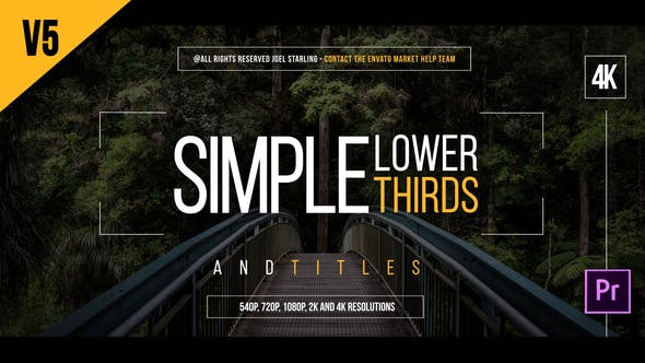 Simple Lower Thirds for Premiere - VideoHive product image