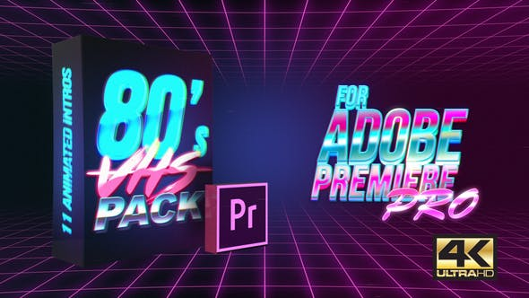 80's VHS Intro Pack | MOGRT for Premiere Pro by